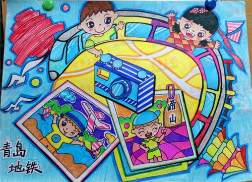 儿童地铁简笔画