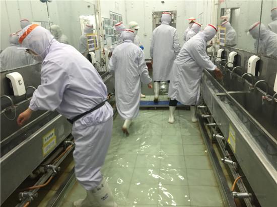 探访山孚集团食品加工工厂 标准严格质量过硬(图)