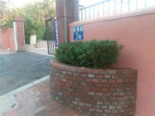 根据道路坡度沿挡墙设计砌筑了两处花坛